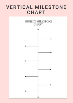 Use Vertical Project Milestone Chart to plan the detailed steps need to take or simply draft the project schedule timeline from start to finish. Project Planner Template, Project Management Templates, Milestone Chart, 10 Year Plan, Business Planner, Business Tips, Program Management, Planner Pages, Planner Ideas