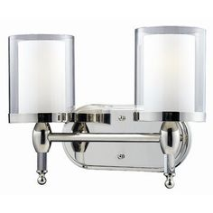 Z-Lite Vanity Argenta 2 Light Chrome by Z-Lite. $207.18. 1908-2V Features: -Vanity light.-Material: Metal / Glass. Color/Finish: -Chrome finish. Specifications: -Accommodates: 2 x 100W medium base incandescent bulbs. Dimensions: -Overall dimensions: 10.5'' H x 14.5'' W x 6.25'' D. Collection: -Argenta Collection.