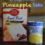 Pineapple Angel Food Fluff Cake! {2 ingredients}