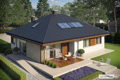 Eris II (wersja C) - projekt domu - Archipelag Village House Design, Bungalow House Design, Village Houses, Small House Design, Small House Floor Plans, Dream House Plans, Modern House Plans, Home Design 2017, Dream Home Design