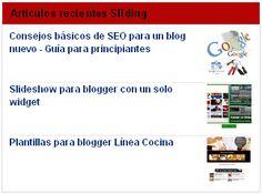 Widget de artículos recientes Sliding « Widgets y Plugins para Blogger