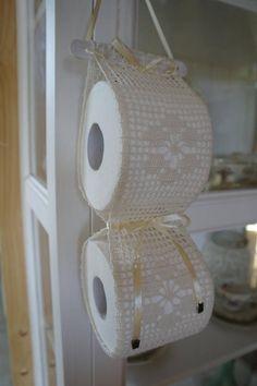 All'uncinetto porta carta igienica deposito di carta