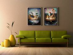 Any Dreamland painting can make an excellent combination set for your walls! Oil on canvas. Joyful, Oil On Canvas, Walls, Paintings, The Originals, Trending Outfits, Decoration, Artist, Furniture