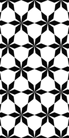 Seamless black and white hexagonal abstract geometric pattern background