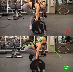 OK guys deadlifts are great and fantastic if you do them properly . I've seen so many people doing them wrong that I thought this little pic might be helpful (I am not saying my form is perfect 100% of the time but I am working on it ! ) please make sure your chest is lifted and there is no rounding in your shoulders. Lift weight with your legs not your back ...having rounded shoulders and upper back can REALLY hurt you so pay close attention to it .