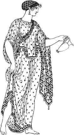 This example appears to have the top folded over before pinning. Greek Chiton, Greek Dress, Ancient Greece, Yahoo Images, Image Search, Roman, Cover Up, Costumes, How To Wear