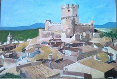 Castell de Villena. Oli sobre llenç