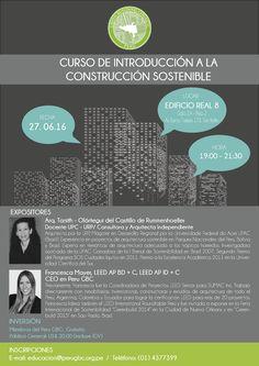 Los esperamos en nuestro nuevo curso de Introducción a la Construcción Sostenible, el cual se realizará este Lunes 27 de Junio en el Edificio Real 8 de San Isidro desde las 7:00 PM. No se lo pierdan! Tenemos grandes expositores!! #ConstrucciónSostenible #CursosPeruGBC