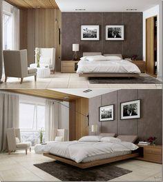 Стильный дизайн спальни с творческими деталями