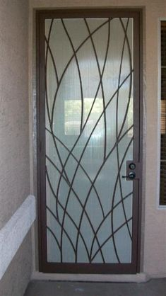 Leafy Steel Door