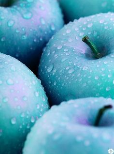 Sky Blue Purple Apples - Dishfunctional Designs: In The Mood For… Lavender with Turquoise. Love Blue, Aqua Blue, Blue Green, Purple, Periwinkle, Cerulean, Color Blue, Light Blue Aesthetic, Aesthetic Colors