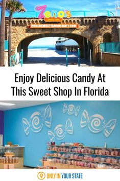 Have some summer fun and visit this unique sweet shop that offers world-famous taffy, savory homemade brittle, and decadent chunks of fudge. Zeno's Boardwalk Sweet Shop in Florida is a delicious candy shop for all ages that has tons of different flavors to choose from and enjoy. Summer Travel, Summer Fun, Daytona Beach Boardwalk, Swimming Holes, Sunshine State, Candy Shop, Fudge, State Parks, Trip Advisor