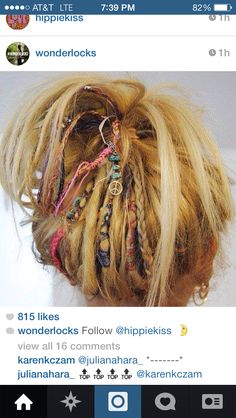 A few dreads for the hair. If I was going to attempt to have dreads this is what I'd do. Dreadlock Hairstyles, Boho Hairstyles, Summer Hairstyles, Pretty Hairstyles, Short Hair Dreadlocks, Dreadlock Wig, Partial Dreads, Hair Colors, Hairstyle Tutorials