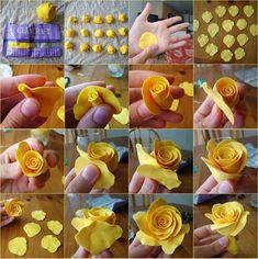 Veja Como Fazer Flor de Pasta Americana