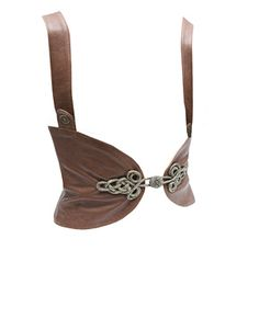 I think I could make this leather corslet...off to Michaels for leather and antique look clasps