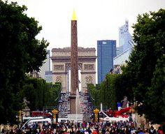 Obelisque, Champs Elysées and Arc de Triomphe