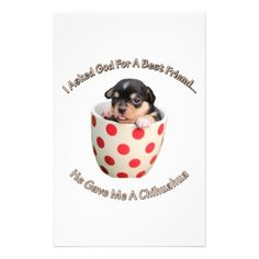 Chihuahua Is My Best Friend Stationery - dog puppy dogs doggy pup hound love pet best friend