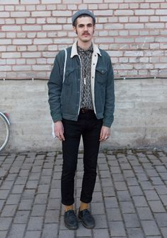 """Darius, 22 """"I shop either vintage or at Cos. Hedi Slimane has a good style."""" 7 May 2013, Cable Factory"""