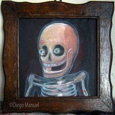 La risa del canalla. Pintura en la venta de la serie Pop Surrealista del artista Diego Manuel