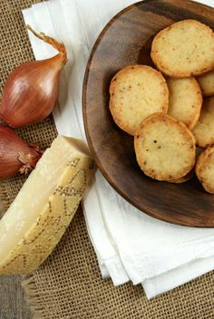 Parmesan and Caramelized Shallot CRACKERS