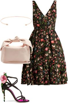 Floral print dress outfit - The Best Dressed Guest What to Wear to a Spring Wedding – Floral print dress outfit Summer Cocktail Attire, Summer Wedding Attire, Wedding Outfits For Women, Cute Dresses For Party, Cute Floral Dresses, Pretty Dresses, Pretty Outfits, Chic Outfits, Dress Outfits