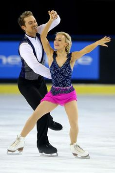 Coomes & Buckland, Britain- 4th after short dance at Grand Prix France 2015