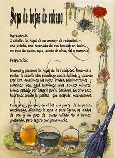 Trastos de Bruja: Sopa de hojas de rabano