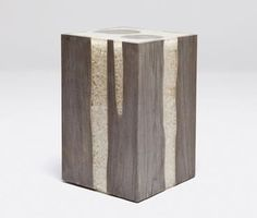 rugged marble stool side table - Google Search