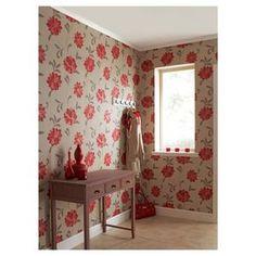 Vintage Valencia Wallpaper - Red