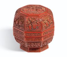 A Cinnabar Lacquer Octagonal Box and Cover 18th Century;  sold 32,245 USD;  27/05/14.   ||| sotheby's hk0520lot72yl4en