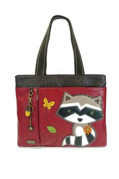 bc251bc0b2 Chala s Big Tote is spacious and eye catching and is adorned with a bonus  acorn keychain