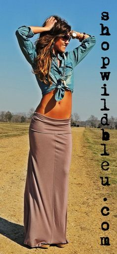 Sandy Maxi Skirt - there's just something that's so effortlessly pretty about a long, casual skirt. (XS, S, M, L) $39