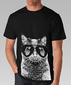 Arm The Animals #armtheanimals Men's Kitty Kitty Bang Bang Crew in Black