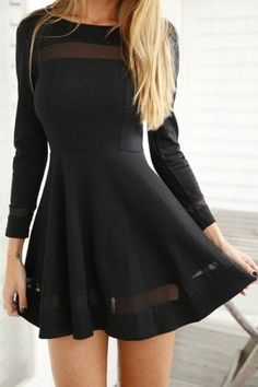 #spring #outfits Black Little Dress