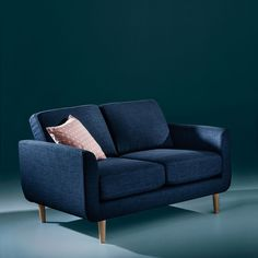 Canapé 2 places, Jimi Canapes, Little Houses, Love Seat, Furniture, Polyester, Home Decor, Studio, Blue Lounge