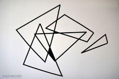 DIY Wall art geometric triangle black and white svart vit washi tejp