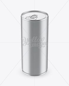 1L Metallic Aluminium Can Mockup (High-Angle Shot)