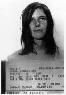 """Leslie Louise Van Houten (born August 23, 1949) was a convicted American murderer who was a member of the """"Manson family"""", led by Charles Manson. Manson and his followers committed a series of nine murders in the summer of 1969. Van Houten was convicted for her participation in eight of these killings. Charles Manson Followers, Leslie Van Houten, Famous Murders, Celebrity Mugshots, Department Of Corrections, All In The Family, Story Of The World, Serial Killers, True Crime"""
