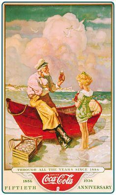 Coca cola cartel antiguo #historia #publicidad #carteles