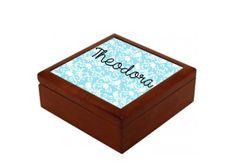 4.5 x 4.5 Oak Personalized Jewelry Box 12 by MissMollyGDesign, $35.00