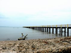 An abandoned dock on a small island in Indonesia 2014