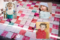Make a Memory Quilt for FREE from Your Old Clothes! Easy tutorial included!