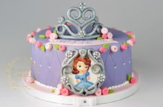 Sofia the First birthday cake by Juniper Cakery