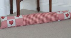 Red Country Gingham Draught Excluder