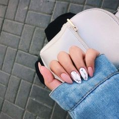 40 Natural Elegant Summer Nail Designs To Prepare For Parties And Holidays 2019 . 40 Natural Elegant Summer Nail Designs To Prepare For Parties And Holidays 2019 - Site - nails Best Acrylic Nails, Matte Nails, Acrylic Nail Designs, Pink Nails, My Nails, Blue Nail, Oxblood Nails, Magenta Nails, Acrylic Nails Almond Short