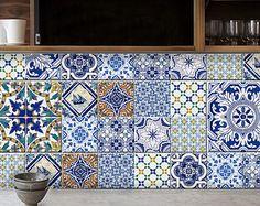 Tile Aufkleber: Portugiesische Küche / Bad Fliesen Abziehbilder   44 Nummern