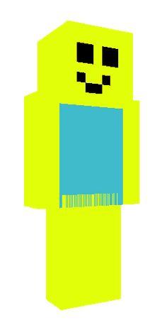 Minecraft Roblox Noob Skin Roblox Noob In 2020 Roblox Noob Minecraft Skins