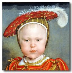 Hans Holbein The Younger (German, 1497/98-1543) - Edward VI as a child.  Probably 1538