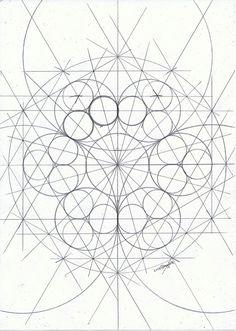 Circle Geometry, Geometry Pattern, Geometric Circle, Geometry Art, Sacred Geometry, Pattern Drawing, Pattern Art, Doodle Art Drawing, Cloud Drawing