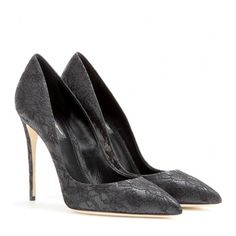 Dolce & Gabbana Kate Lace Pumps ($495) ❤ liked on Polyvore featuring shoes, pumps, heels, black, high heels, black lace pumps, high heel shoes, kohl shoes, black shoes and black heeled shoes